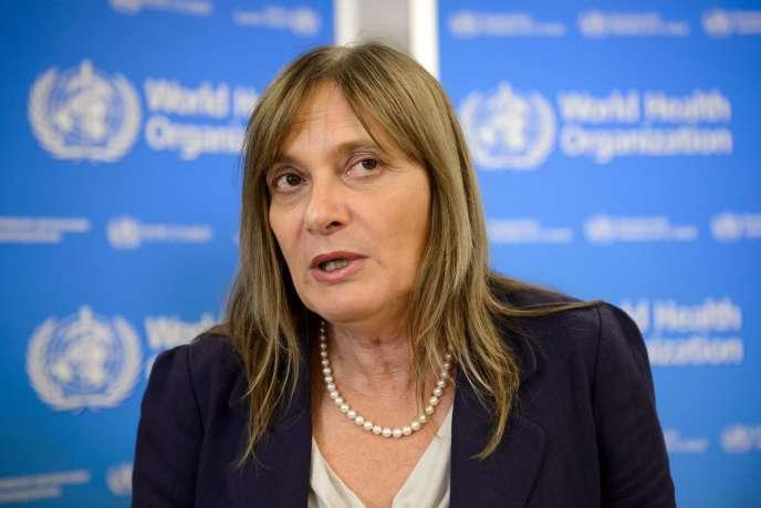 Marie-Paule Kieny, sous-directrice générale de l'OMS, à Genève, le 5 septembre.