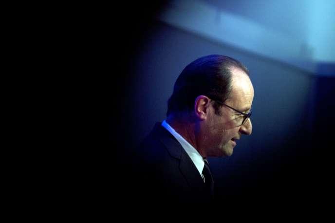 François Hollande, lors d'une conférence de presse au sommet de l'OTAN de Newport, au Pays de Galles, le 5 septembre.
