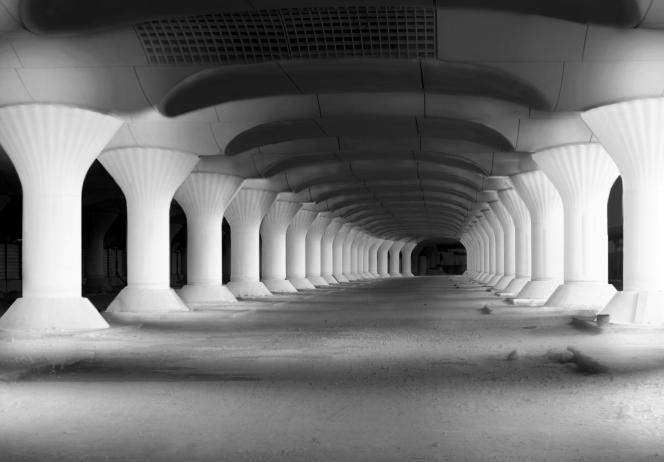 Kinematope, gare d'Austerlitz à Paris, pour la Nuit Blanche du 4 octobre 2014.