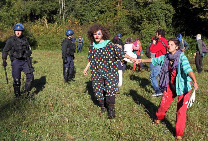 Manifestation contre le lac artificiel de Sivens (Tarn), le 1er septembre.