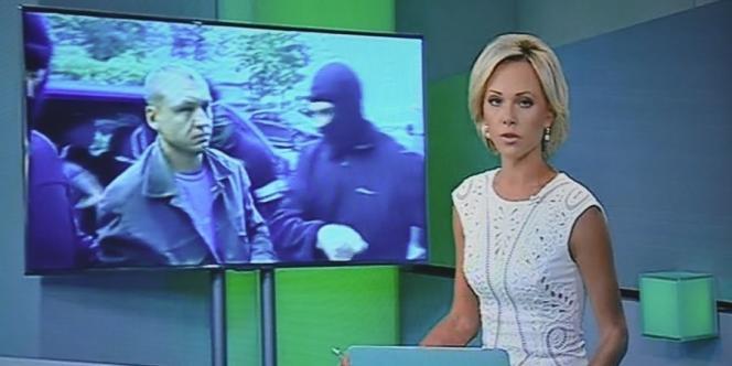 Capture d'écran de la chaîne de télévision russe NTV, samedi 6 septembre, montrant