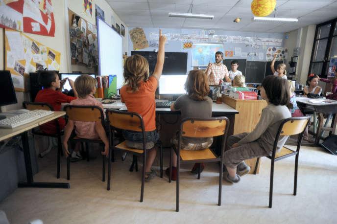 Dans une classe de primaire, en 2013.