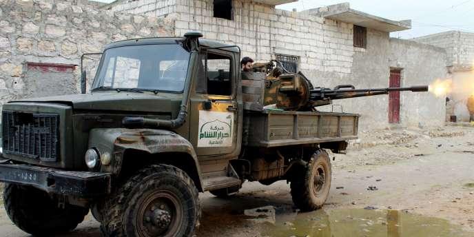 Un combattant du groupe islamiste Ahram Al-Cham en janvier dernier.