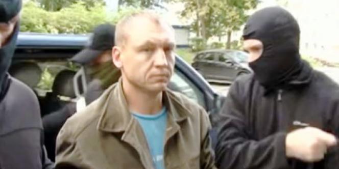 Capture vidéo montrant Eston Kohver, agent estonien, détenu par les Russes.