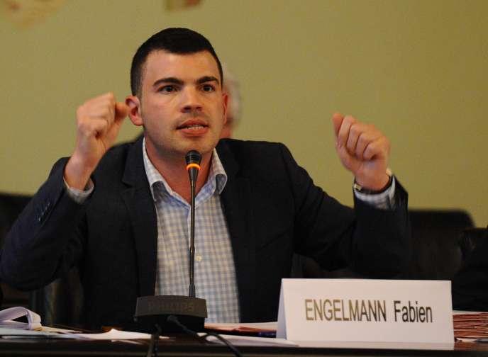 Fabien Engelmann, maire (FN) d'Hayange (Moselle), le3septembre.