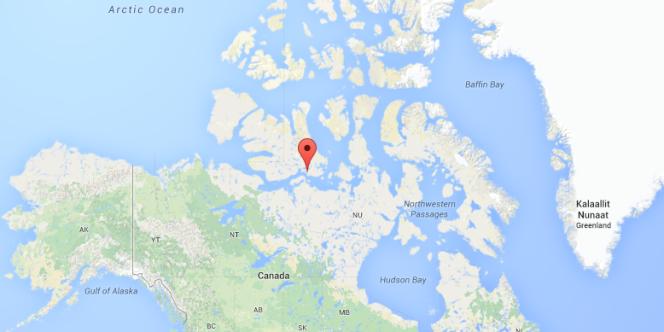 Le village de Cambridge Bay au Nunavut, près d'où a été retrouvée l'épave de l'expédition Franklin.