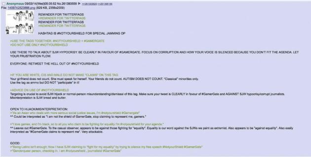 Capture d'écran de 4chan.