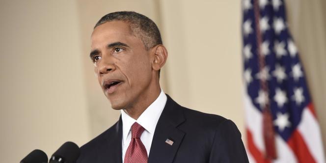 Barack Obama lors de la présentation de son plan de lutte contre l'Etat islamique.