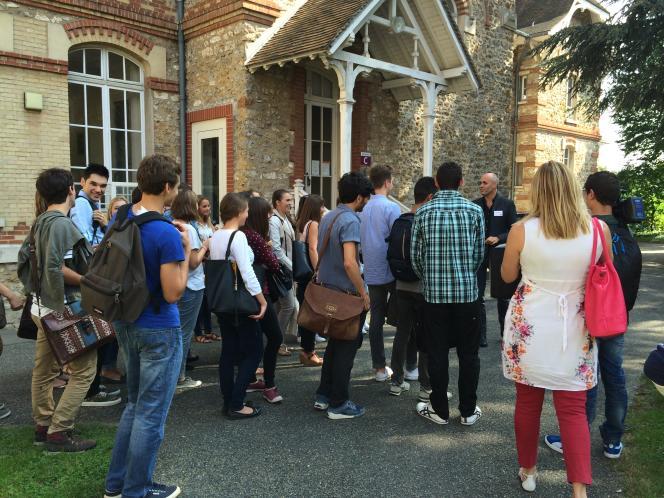 A la prérentrée des étudiants de Sciences Po Saint-Germain-en-Laye (Yvelines), le 10 septembre.