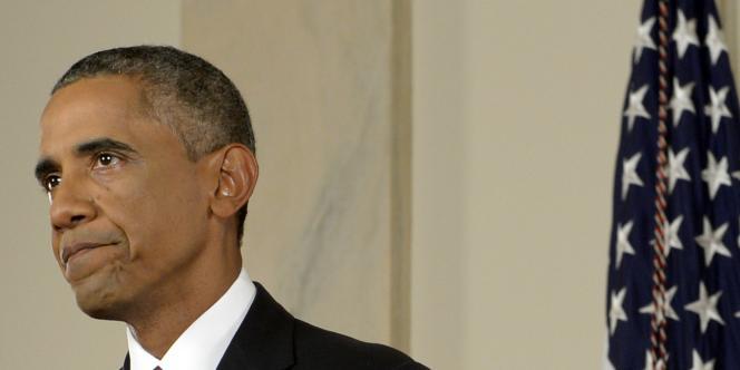 Barack Obama annonce à la télévision américaine, mercredi 10 septembre 2014, la guerre que mènera son pays contre le djihadisme de l'Etat islamique en Irak et en Syrie.