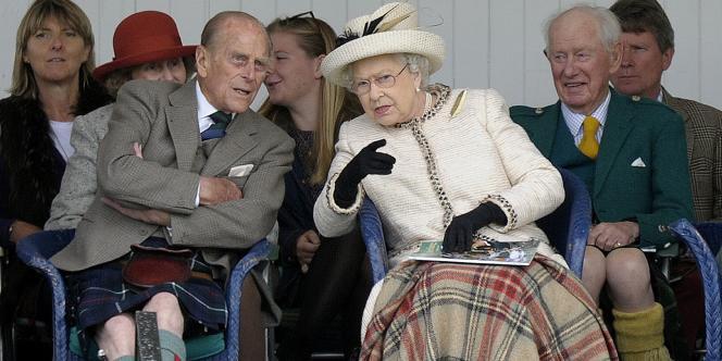 La reine Elizabeth II et son époux, le prince Philip, le 6 septembre à Braemar.
