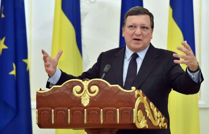 José Manuel Barroso, le 12 septembre à Kiev.
