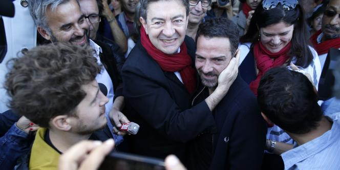 Jean-Luc Mélenchon et Jérôme Kerviel à la Fête de «L'Humanité», le 13septembre.