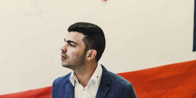 Fabien Engelmann en mars, après sa victoire aux municipales. Photo: Pascal Bastien/Divergence