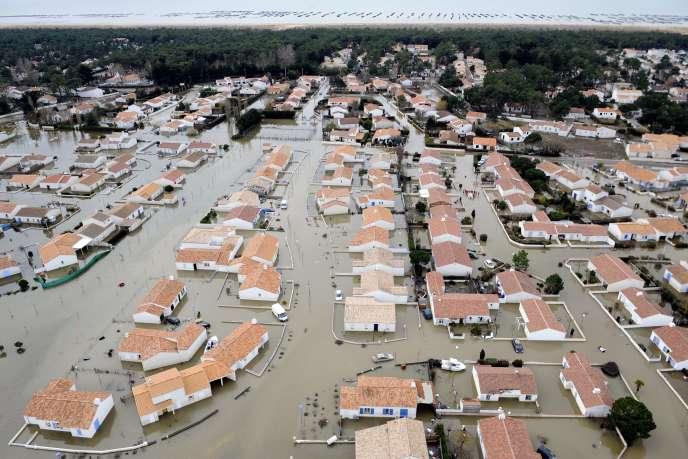 Les inondations en Vendée après Xynthia, le 3 mars 2010.
