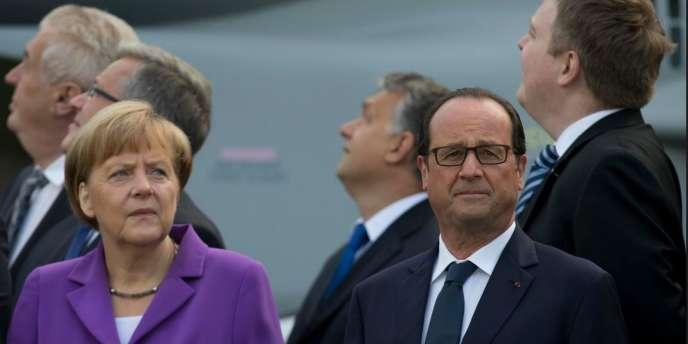 Le président François Hollande et la chancellière allemande, Angela Merkel, le 5 septembre 2014.