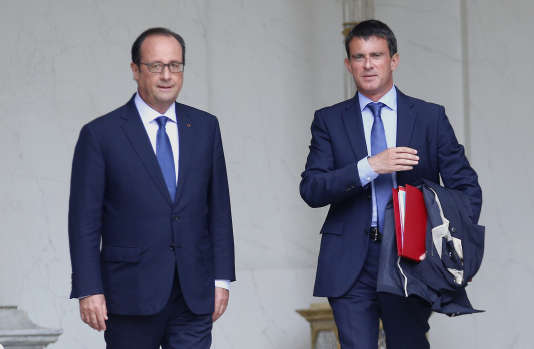 François Hollande et Manuel Valls, en août 2014.