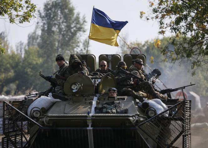Des soldats ukrainiens près de Kramatorsk, dans l'est de l'Ukraine, le 15 septembre.