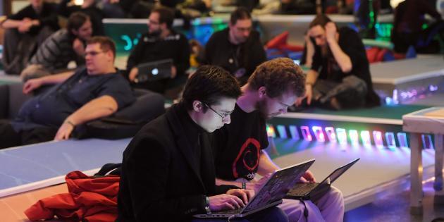 Au 28e Chaos Computer Club (CCC) de Berlin, le 30 décembre 2011.