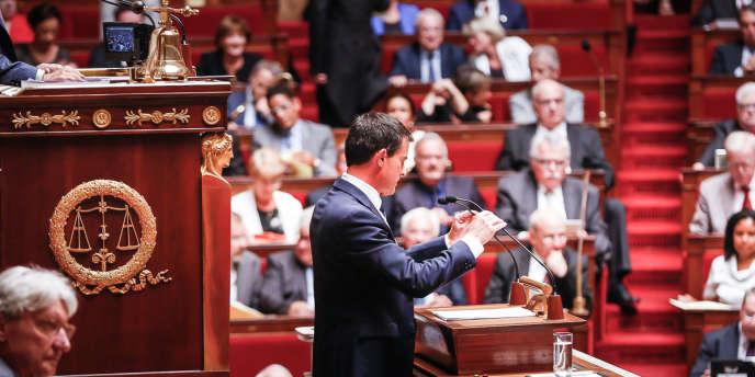 Manuel Valls prononce son discours de politique générale à l'Assemblée nationale.