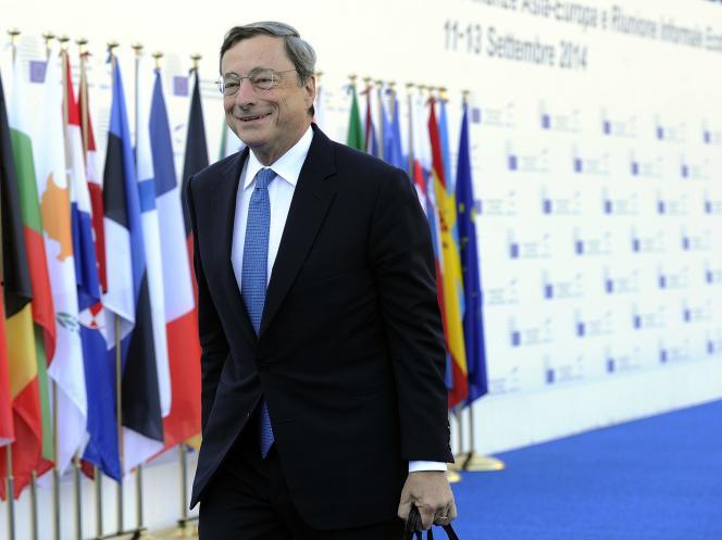 Mario Draghi, président de la Banque centrale européenne, le 12 septembre.