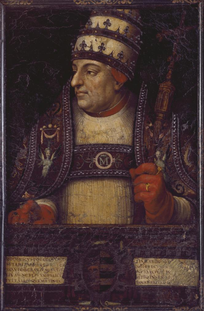 Portrait du pape Alexandre VI par Juan de Juanes (1586).