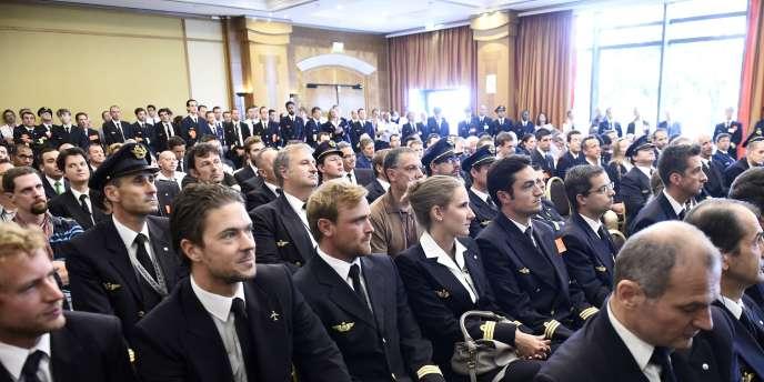 Des pilotes d'Air France, le 17 septembre.