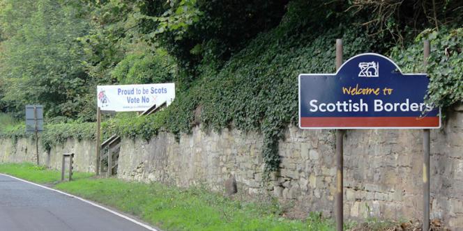 La frontière entre l'Angleterre et l'Ecosse.