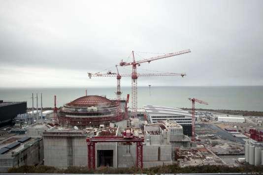 Vue du chantier de l'EPR de Flamanville (Manche), en février 2014.