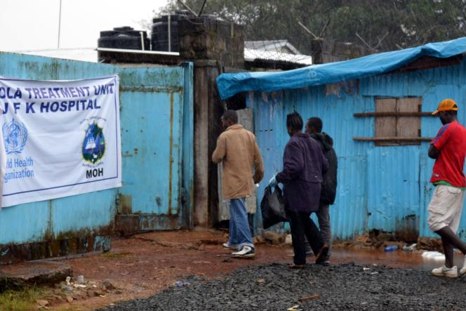 Un centre de traitement Ebola à Monrovia, au Liberia.