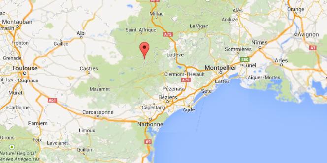 Carte de situation d'Arnac-sur-Dourdou dans l'Aveyron.