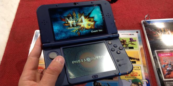 La New Nintendo 3DS, sur le stand de Capcom au Tokyo Game Show 2014.
