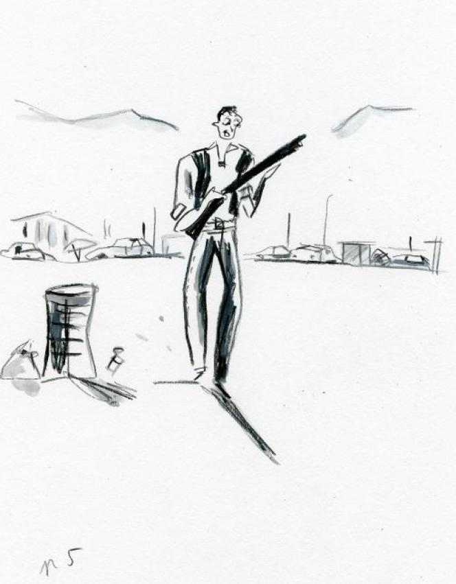 Illustration « Une brume si légère » de Sandrine Collette, illustrée par Dominique Corbasson.
