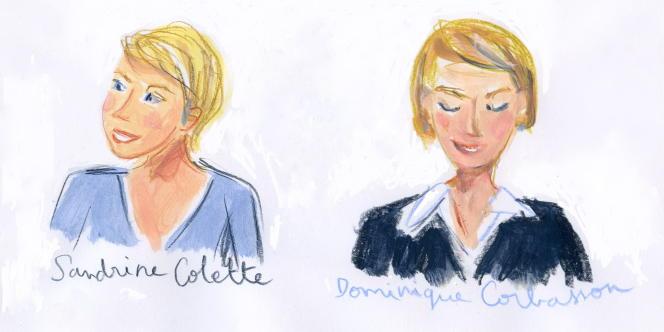 Sandrine Collette et Dominique Corbasson vues par Dominique Corbasson.