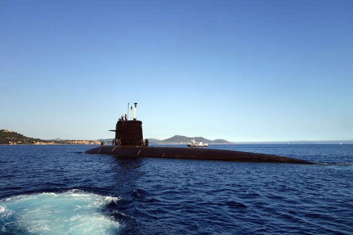 Le «Perle», sous-marin nucléaire d'attaque de la marine française.