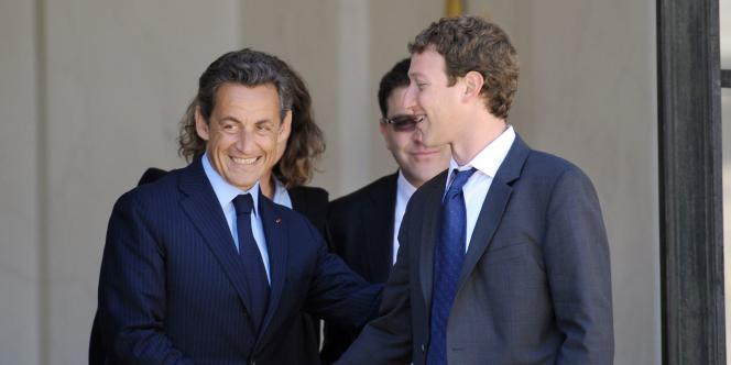 Nicolas Sarkozy et Mark Zuckerberg à l'Elysée, en mai 2011.