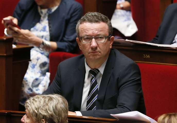 Le député Christian Paul (Nièvre, PS) à l'Assemblée nationale, le16septembre.