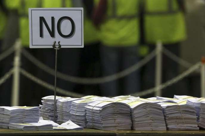 Dans un bureau de vote d'Edimbourg, le 19 septembre.