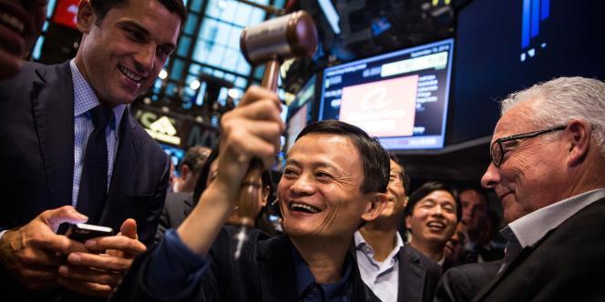 Jack Ma, fondateur du géant du commerce en ligne chinois Alibaba, le 19 septembre à la Bourse de New York.