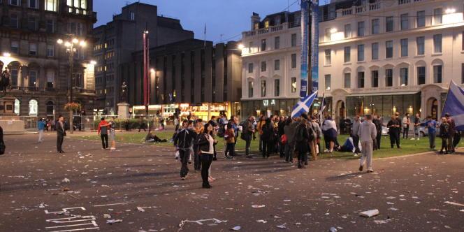 Le 18 septembre, lors du référendum écossais, Glasgow avait voté