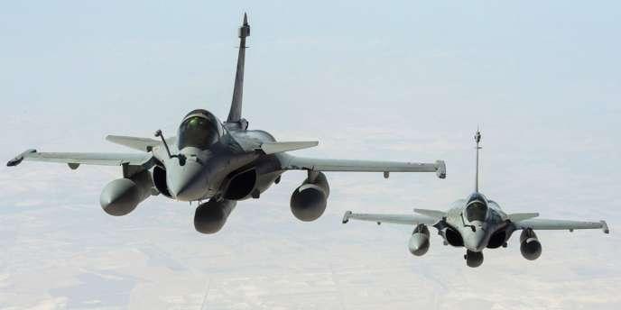 Des Rafale de l'armée de l'air dans le ciel irakien, le 15septembre.
