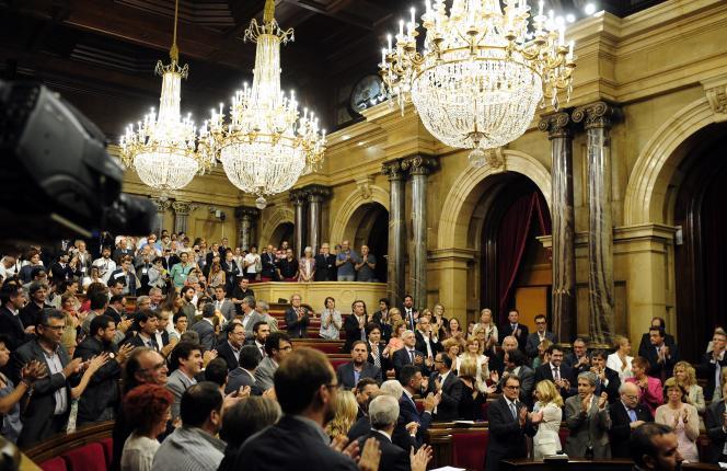 Au parlement catalan, le 19 septembre.