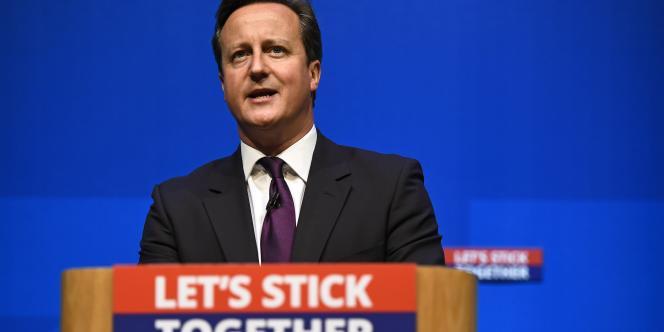David Cameron, le 15 septembre, à Aberdeen, en Ecosse, en campagne pour le «non» au référendum.