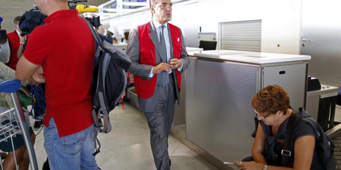 Alexandre de Juniac, PDG d'Air France-KLM, à Roissy le 17 septembre, au troisième jour de grève des pilotes.