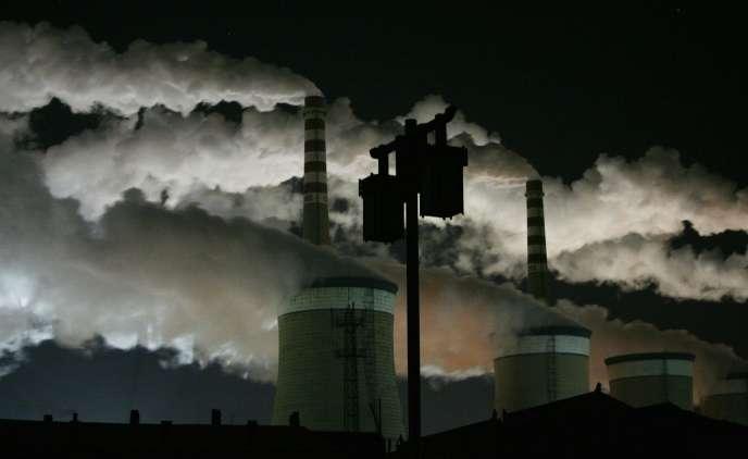 La deuxième plus grosse centrale à charbon de Datong, dans la province du Shanxi, en 2009.
