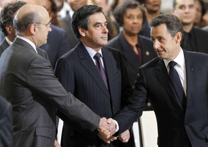 Alain Juppé, François Fillon et Nicolas Sarkozy en 2011.
