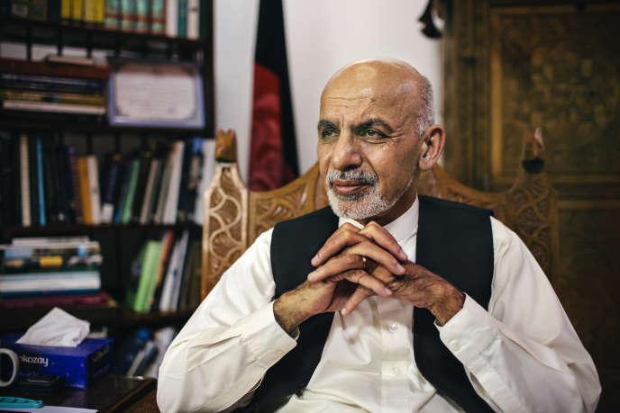Ashraf Ghani, à son domicile de Kaboul, le 20septembre.