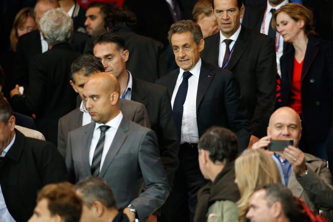 Nicolas Sarkozy au Parc des Princes, le 21 septembre 2014