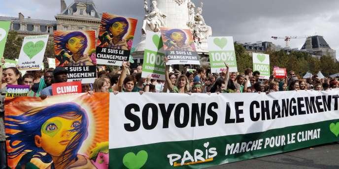 La «marche des peuples pour le climat» dimanche à Paris.