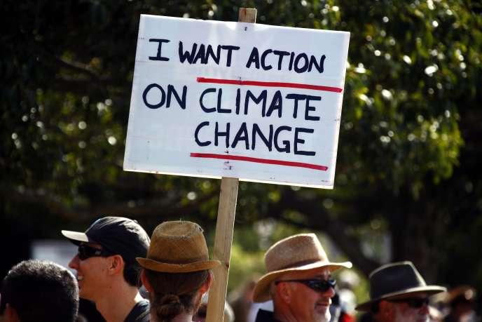 La Marche du peuple pour le climat a été suivie par près de 5000 personnes à Sydney dimanche.